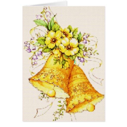 Gold Wedding Bells: Gold Wedding Bells RSVP Card