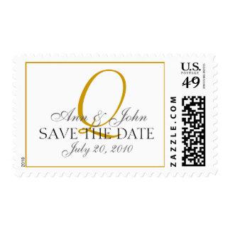 Gold Wedding Bride Groom Monogram Q Stamp