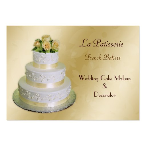 Wedding cake business business card templates page3 bizcardstudio gold wedding cake makers business cards reheart Choice Image