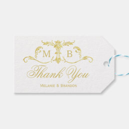 Gold wedding favor gift tags Wedding Thank You tag