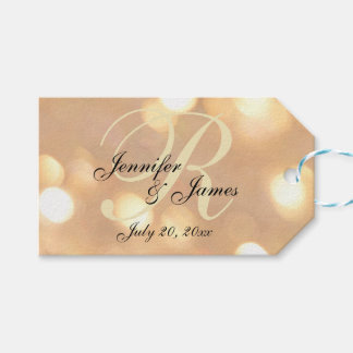 Gold Wedding Favor Tags   Pack of Gift Tags