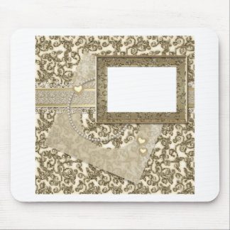 Gold Wedding or Anniversary with Photo Frame Mouse Pad