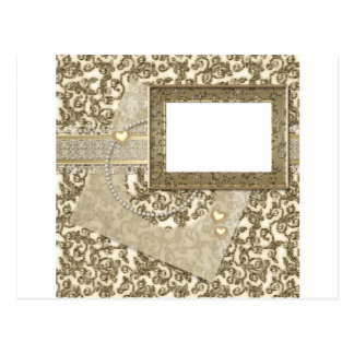 Gold Wedding or Anniversary with Photo Frame Postcard