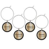 Gold Wedding Party or Special Occasion Wine Glass Charm