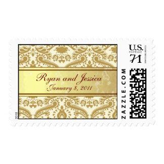Gold wedding postage