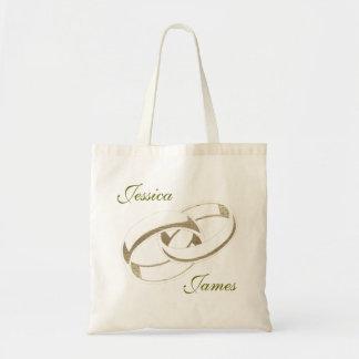 Gold Wedding Rings Art Gifts Tote Bag