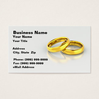 Gold Wedding Rings Business Card