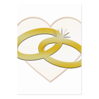 Gold Wedding Rings Heart Romantic Bridal Business Cards