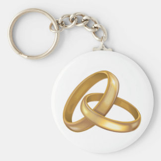 Gold Wedding Rings Intertwined Keychain