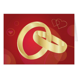 Gold-Wedding-Rings.jpg GOLD GOLDEN WEDDING RINGS Greeting Card