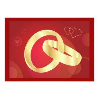 Gold-Wedding-Rings.jpg GOLD GOLDEN WEDDING RINGS 5x7 Paper Invitation Card