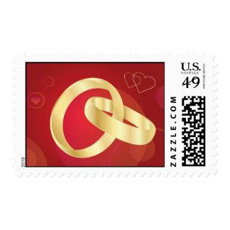 Gold-Wedding-Rings.jpg GOLD GOLDEN WEDDING RINGS Postage Stamps