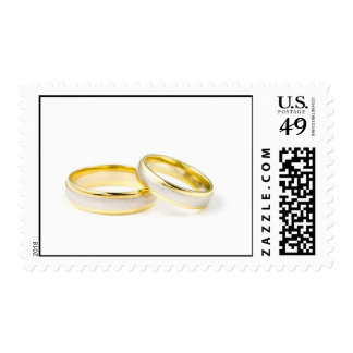 Gold Wedding Rings Postage Stamp