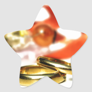 Gold Wedding Rings Star Sticker
