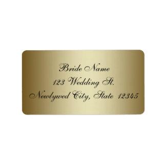 Gold Wedding RSVP Return Address Labels