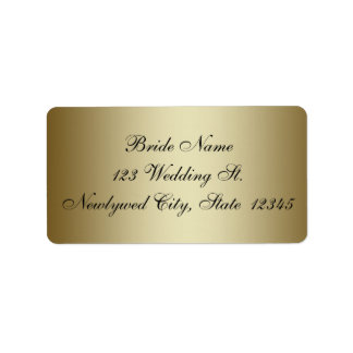 Gold Wedding RSVP Return Address Labels