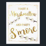 "gold Wedding s&#39;more sign party s&#39;more<br><div class=""desc"">wedding sign</div>"