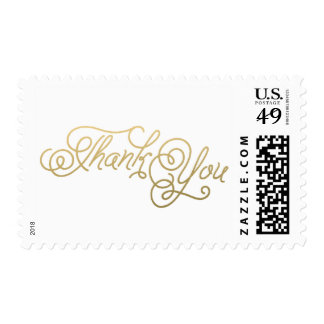 Gold Wedding Thank You Postage Stamp