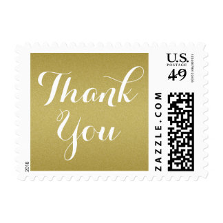 Gold Wedding Thank You Stamp