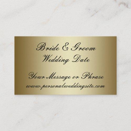 Gold Wedding Website Insert Card for Invitations