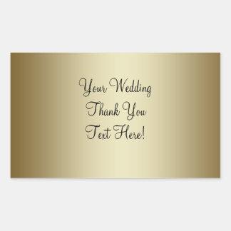 Gold Wedding Wine Label Sticker