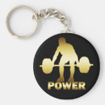 GOLD WEIGHTLIFTER KEY CHAIN