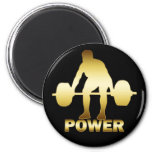 GOLD WEIGHTLIFTER MAGNETS