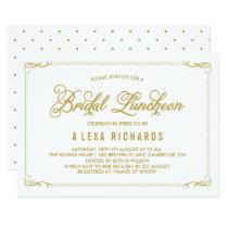 Gold Whimsical Borders Bridal Luncheon Invitation