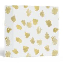 Gold White Animal Print Abstract Binder
