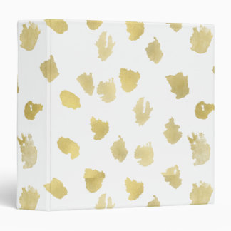 Gold White Animal Print Abstract Binder