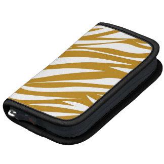 Gold White Animal Stripe Pattern AS Organizers