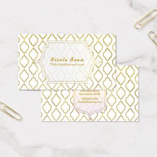 Gold & White Arabian Moroccan Modern Glam Business Card