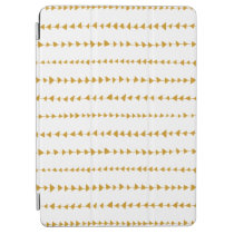 Gold White Aztec Arrows Pattern iPad Air Cover at Zazzle