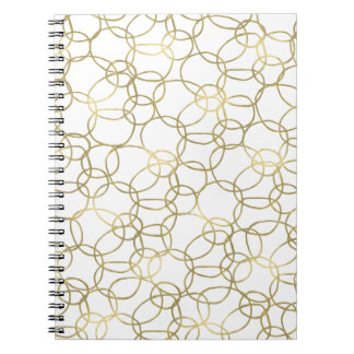 Gold White Circles Notebook