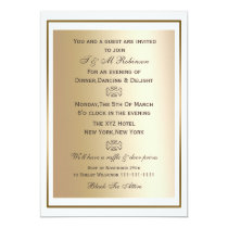 gold white corporate event invitations