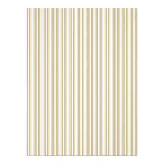 Gold & White Diagonal Christmas Candy Cane Stripes Card