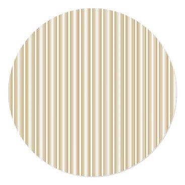 Disney Themed Gold & White Diagonal Christmas Candy Cane Stripes Card