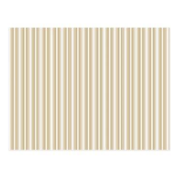 Disney Themed Gold & White Diagonal Christmas Candy Cane Stripes Postcard