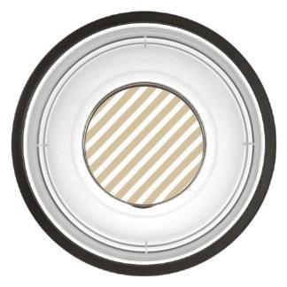 Gold & White Diagonal Christmas Candy Cane Stripes Pet Bowl