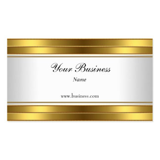 Gold White Elegant Classy Business Card
