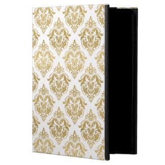 Gold & White Floral Damasks Pattern Powis iPad Air 2 Case