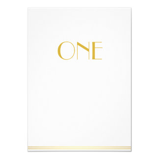 Gold White Great Gatsby Cards In Lieu Of Favors