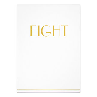 Gold White Great Gatsby Wedding Table Cards Eight
