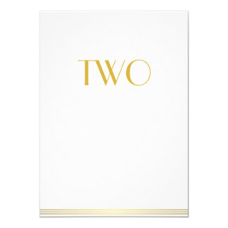 Gold White Great Gatsby Wedding Table Cards Two