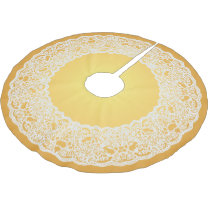 Gold White Lace Vintage Tree Skirt