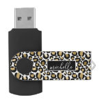 Gold & White Leopard USB Flash Drive