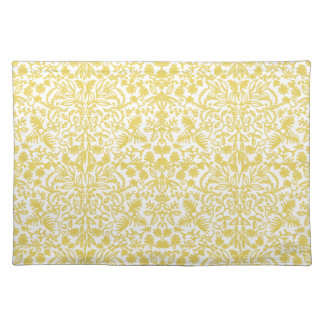 Gold White Medieval Leaves Placemats