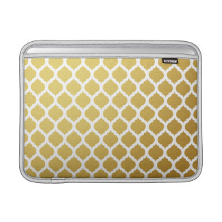 Gold & White Moroccan Macbook Air Sleeve