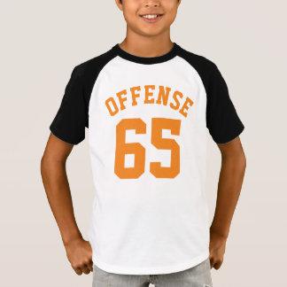 Gold White & Orange Kids | Sports Jersey Design T-Shirt