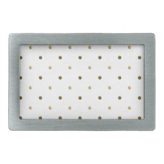 Gold White Polka Dots Golden Dots Elegant Design Belt Buckle